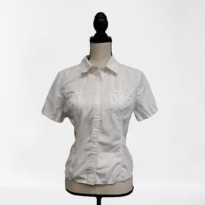 TOMMY Hilfiger White Button Down Blouse